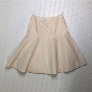 NWT J Crew silk ivory high waisted skirt